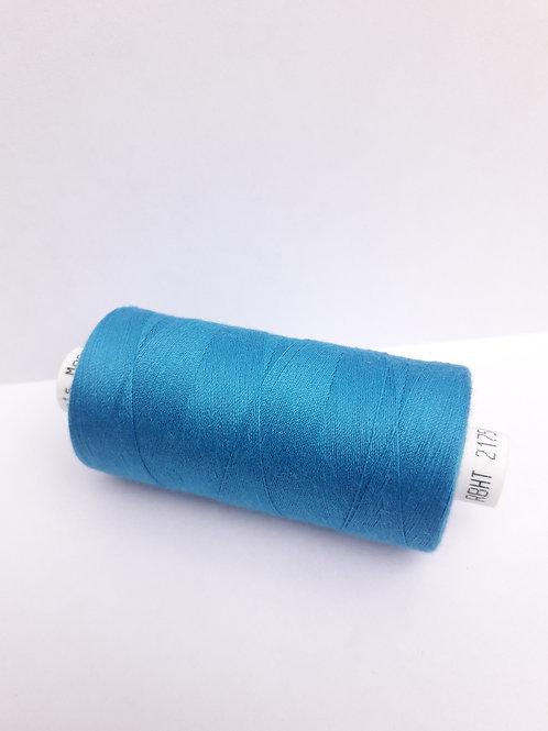 Bright blue Moon spun polyester thread 1000m