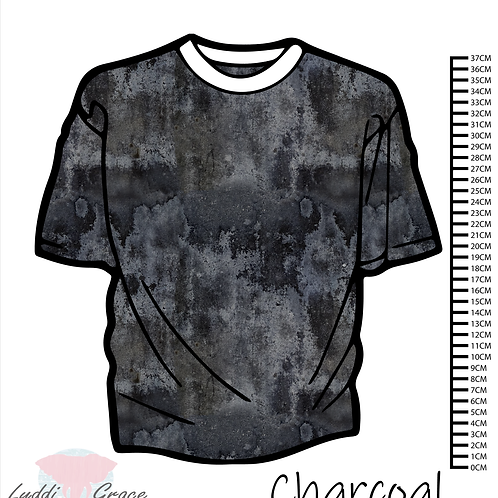 Charcoal Grungey basic - PRE-WASHED