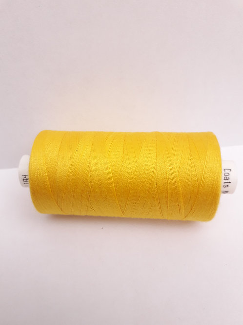Bright yellow Moon spun polyester thread 1000m