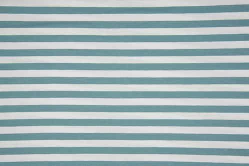 Dusky Mint and white 1cm stripes