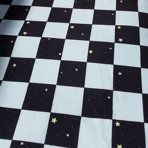 Black + White chequered stars