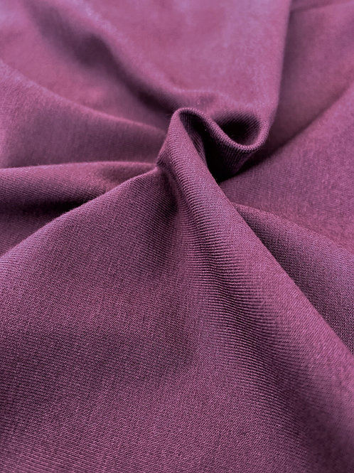 Plum 95/5 Cotton Elastane - PRE-WASHED