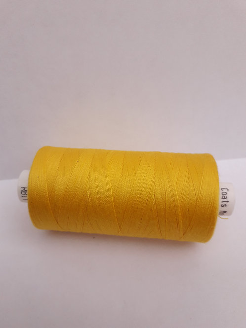 Dark yellow Moon spun polyester thread 1000m