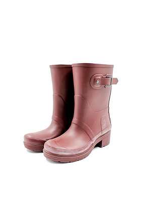 Hunter Short Boots in Wine