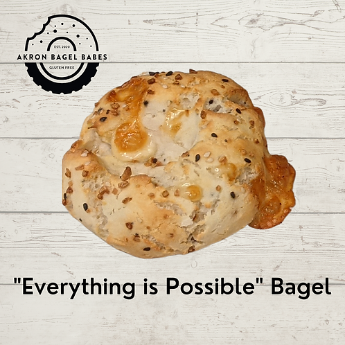 """4-pack of """"Everything is Possible"""" Bagels"""