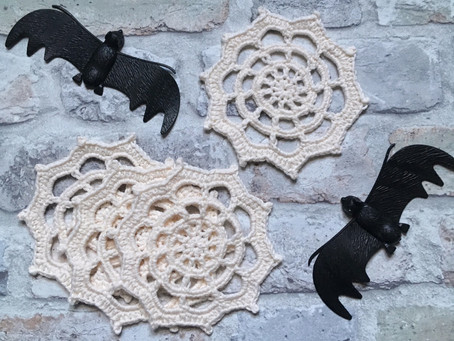 Spiderweb Coasters Free Crochet Pattern