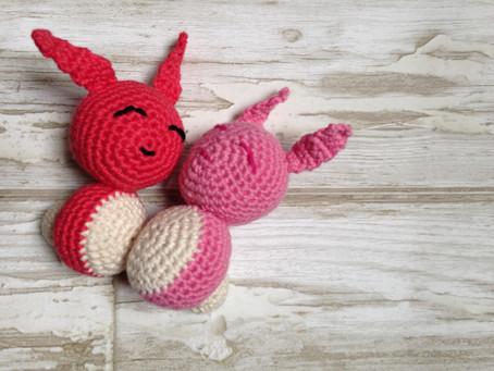 Sleeping Bunny Rabbit Free Crochet Pattern.