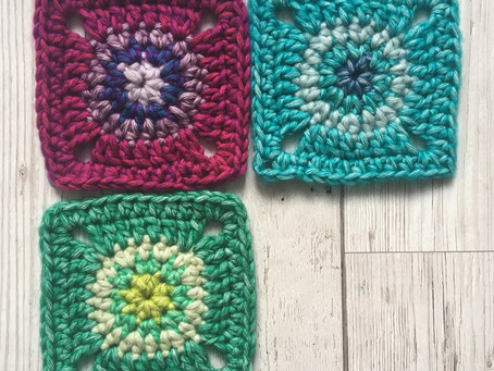 Circle in a square free crochet pattern