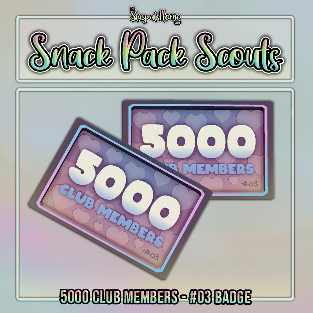 #03 Badge 5000 Club Members