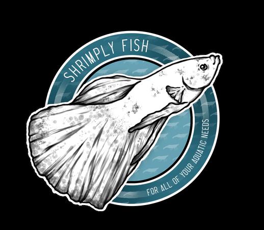 Shrimply Fish Logo