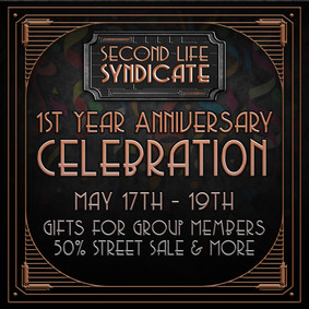 Second Life Syndicate Celebration Poster