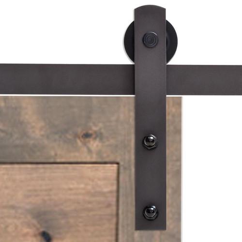 Antique Bronze Classic Straight Strap Barn Sliding Door Hardware Set