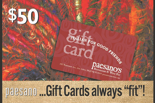 COMING SOON - GIFT CARDS ONLINE!