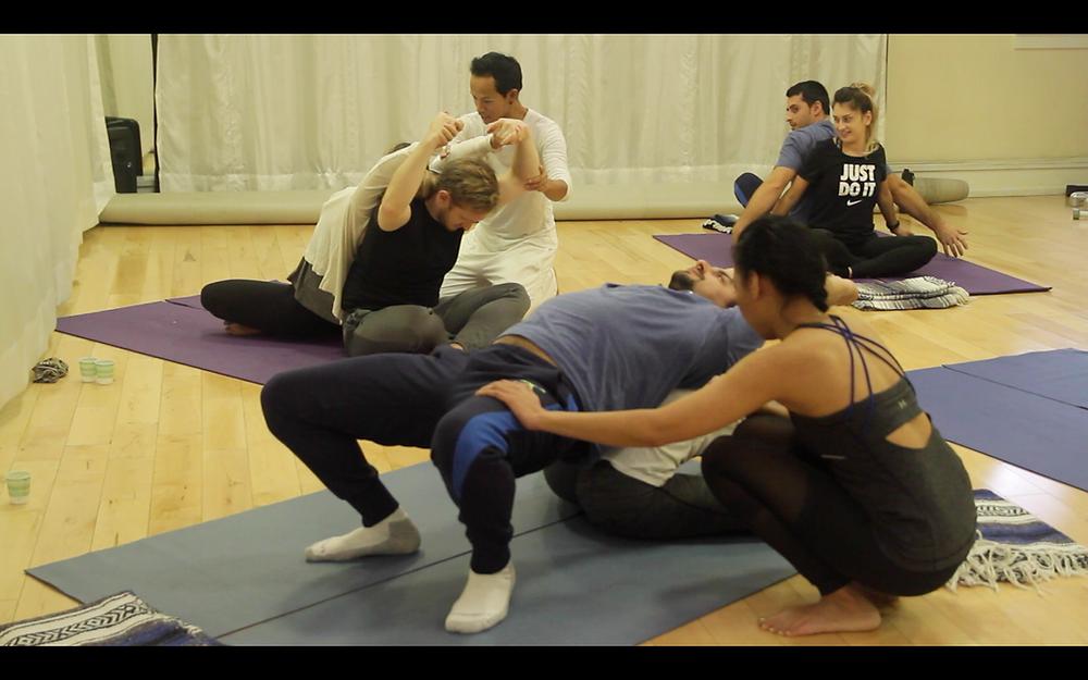 Partner Yoga Massage