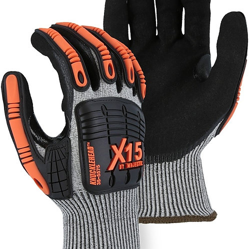 35-5575 X-15® Cut & Impact Resistant Glove with Double Sandy Nitrile Coating