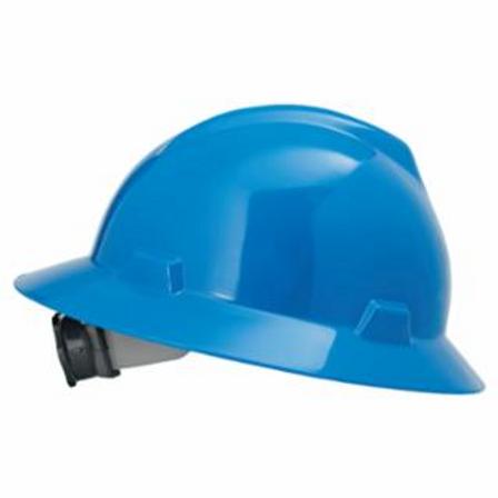 MSA 475368 V-Gard Protective Hats, Fas-Trac Ratchet, Hat, Blue