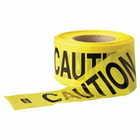 Anchor Brand Y10003 Barrier Tape, 3 in x 1,000 ft, Yellow, Caution