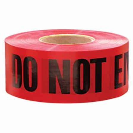 Anchor Brand R10003 Barricade Tape, 3 in x 1,000 ft, Red, Danger Do Not Enter