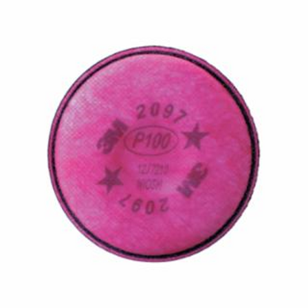 3M 2097 Series Filters, Nuisance Level Organic Vapor, P100, Magenta