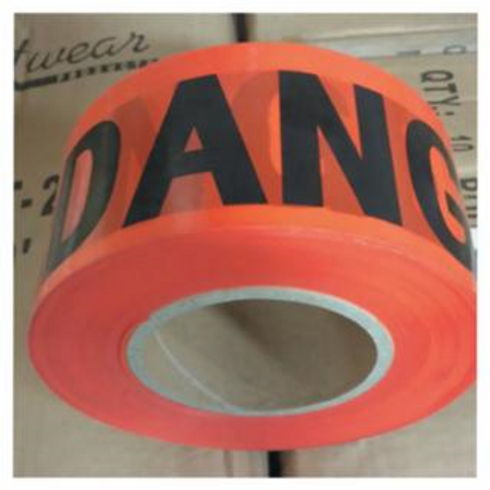 Empire Level 77-1004 Safety Barricade Tape, 3 in x 1,000 ft, Red, Danger
