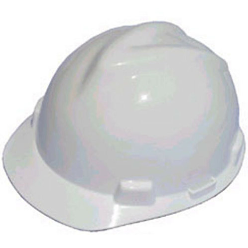 V-Gard Protective Hats, Fas-Trac Ratchet, Slotted Hat, White-475369