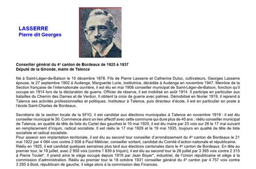 Biographie Georges Lasserre