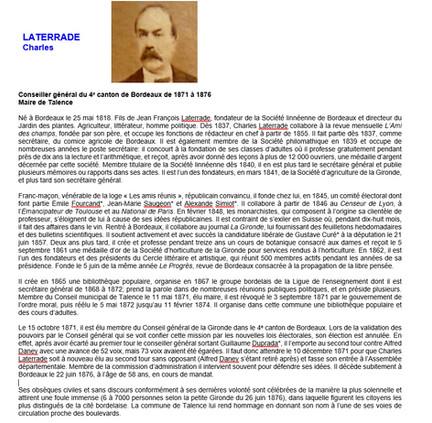 Biographie Charles Laterrade