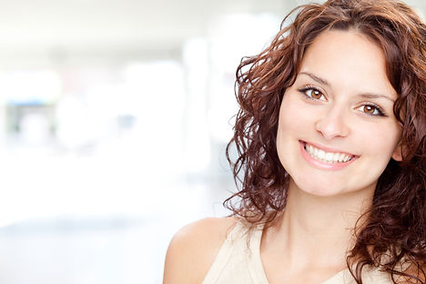 Woman smiling being happy with her diet