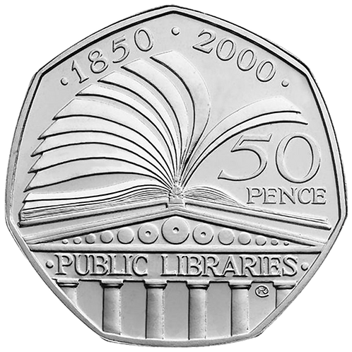 50 Pence Fifty Pence Public Libraries 2000 - CIRCULATED