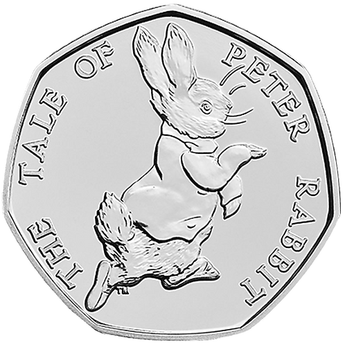 50 Pence Fifty Pence The Tale of Peter Rabbit Beatrix Potter 2017 - CIRCULATED