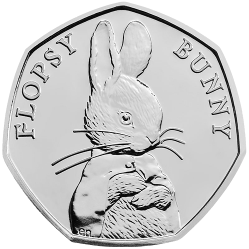 50 Pence Fifty Pence Flopsy Bunny Beatrix Potter 2018 - CIRCULATED