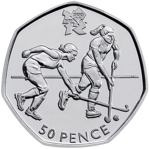 Hockey 50 Pence Fifty Pence Olympics 2011 - CIRCULATED