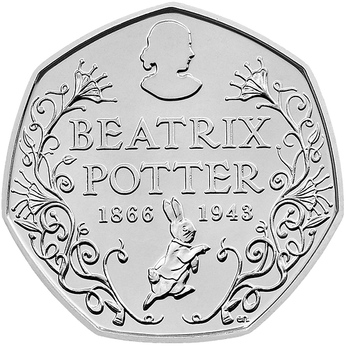 50 Pence Fifty Pence Beatrix Potter Anniversary 2016 - CIRCULATED