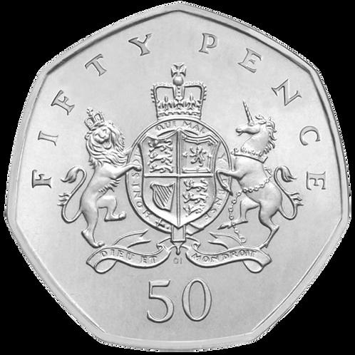 50 Pence Fifty Pence Christopher Ironside Royal Arms 2013 - CIRCULATED