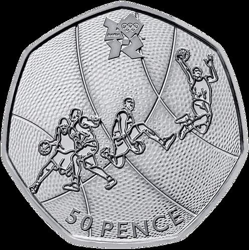 Basketball 50 Pence Fifty Pence Olympics 2011 - CIRCULATED