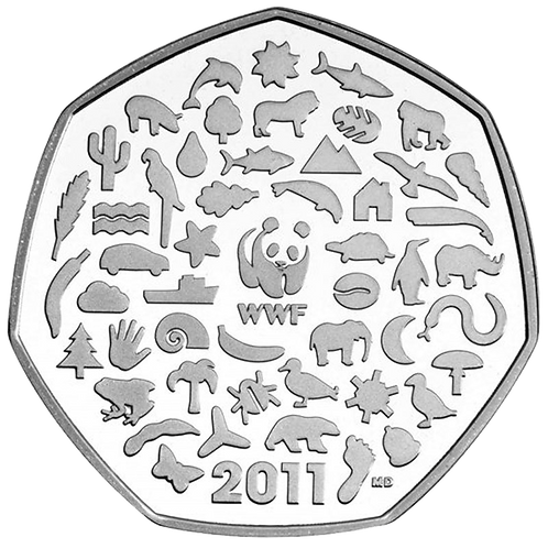 50 Pence Fifty Pence WWF 2011 - CIRCULATED