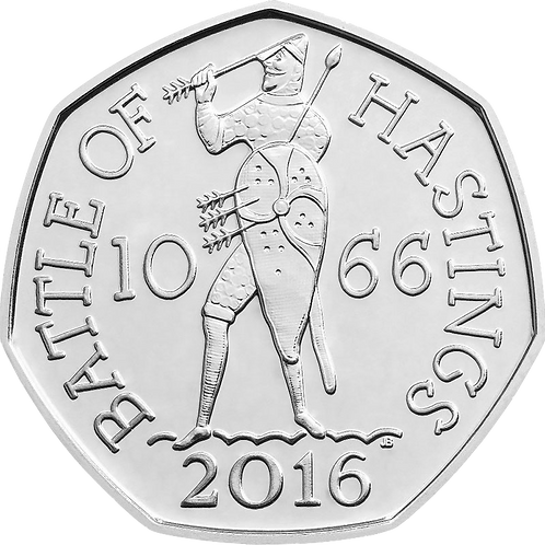 50 Pence Fifty Pence Battle of Hastings 2016 - CIRCULATED