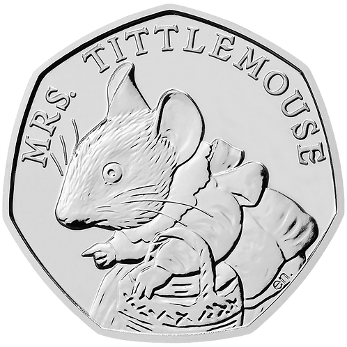 50 Pence Fifty Pence Mrs Tittlemouse Beatrix Potter 2018 - CIRCULATED