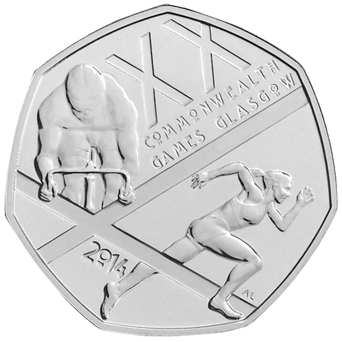 50 Pence Fifty Pence Commonwealth Games 2014 - CIRCULATED