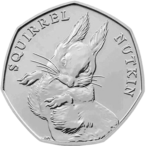 50 Pence Fifty Pence Beatrix Potter Squirrel Nutkin 2016 - CIRCULATED