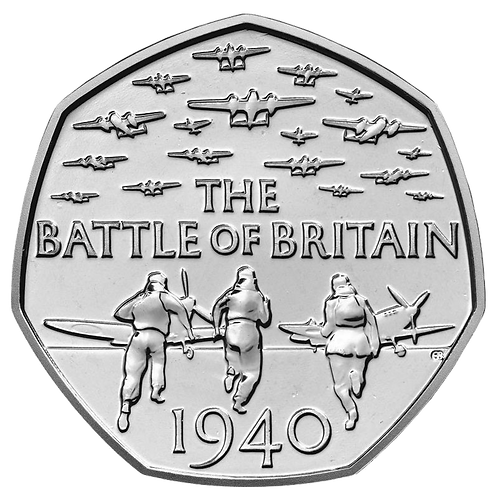 50 Pence Fifty Pence Battle of Britain 2015 - CIRCULATED