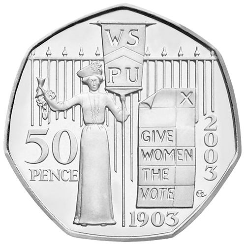 50 Pence Fifty Pence Give Women The Vote 2003 - CIRCULATED