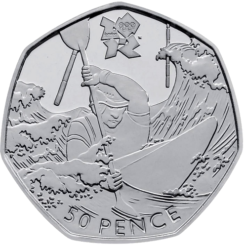 Canoeing 50 Pence Fifty Pence Olympics 2011 - CIRCULATED