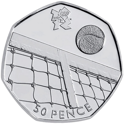 Tennis 50 Pence Fifty Pence Olympics 2011 - CIRCULATED