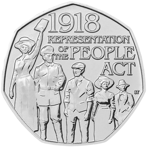 50 Pence Fifty Pence 1918 Representation of the People Act 2018 - CIRCULATED