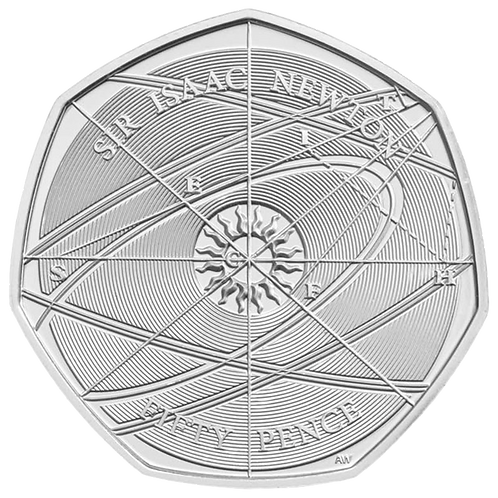 50 Pence Fifty Pence Sir Isaac Newton 2017- CIRCULATED