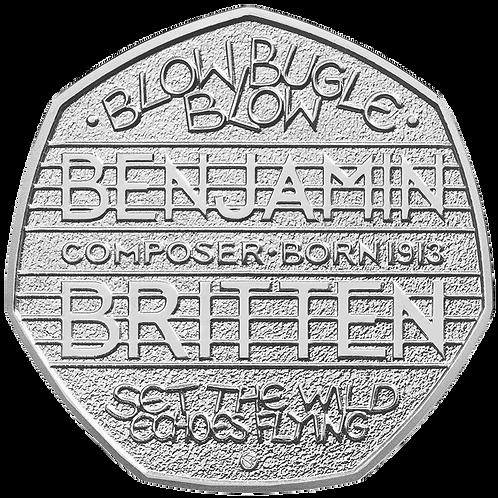 50 Pence Fifty Pence Benjamin Britten 2013- CIRCULATED
