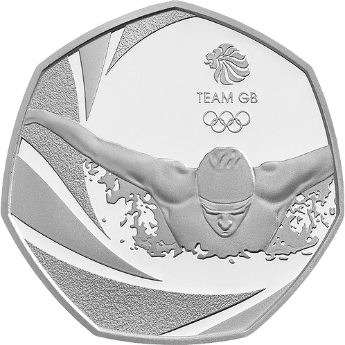 50 Pence Fifty Pence Team GB Swimming 2016 - CIRCULATED