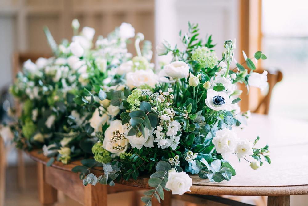 Long and low flower arrangement