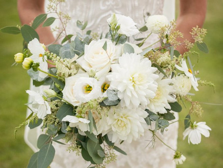 Super stylish all white wedding at Caswell House